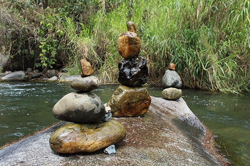 Balanced Pebbles and Rocks